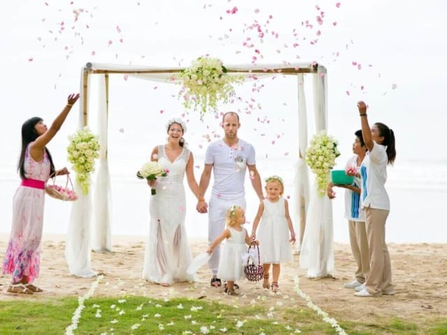 Beach Wedding Phuket Thailand Petals