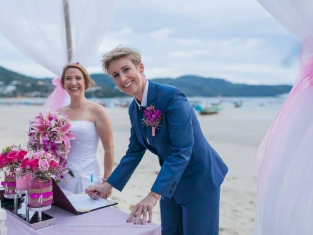 Phuket Beach Marriage Laura & Marie (14)