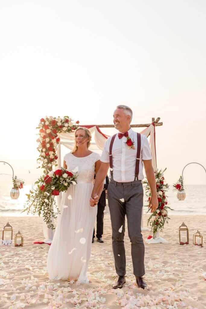 Gina & Hasse Beach Wedding 20th Jan 2020 Aleenta Resort Phang Nga 151