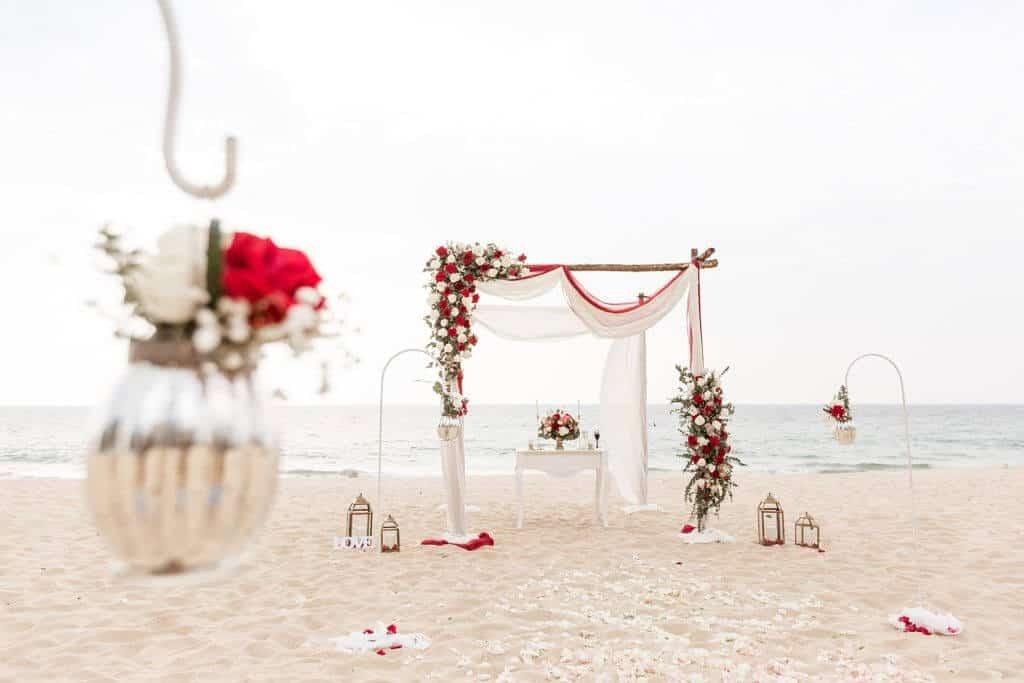 Gina & Hasse Beach Wedding 20th Jan 2020 Aleenta Resort Phang Nga 22