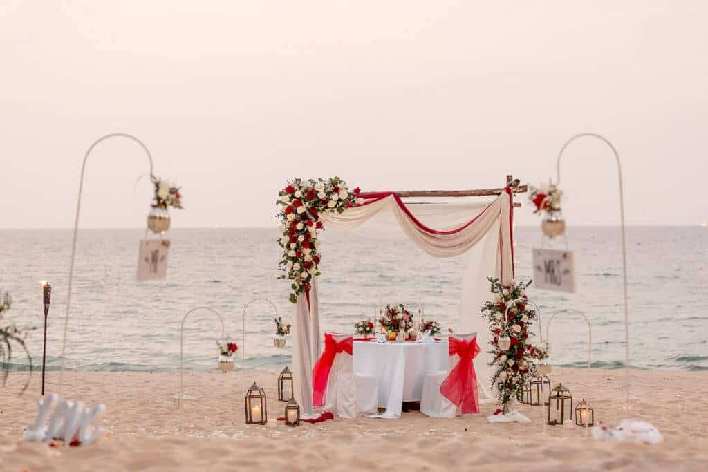 Gina & Hasse Beach Wedding 20th Jan 2020 Aleenta Resort Phang Nga 283