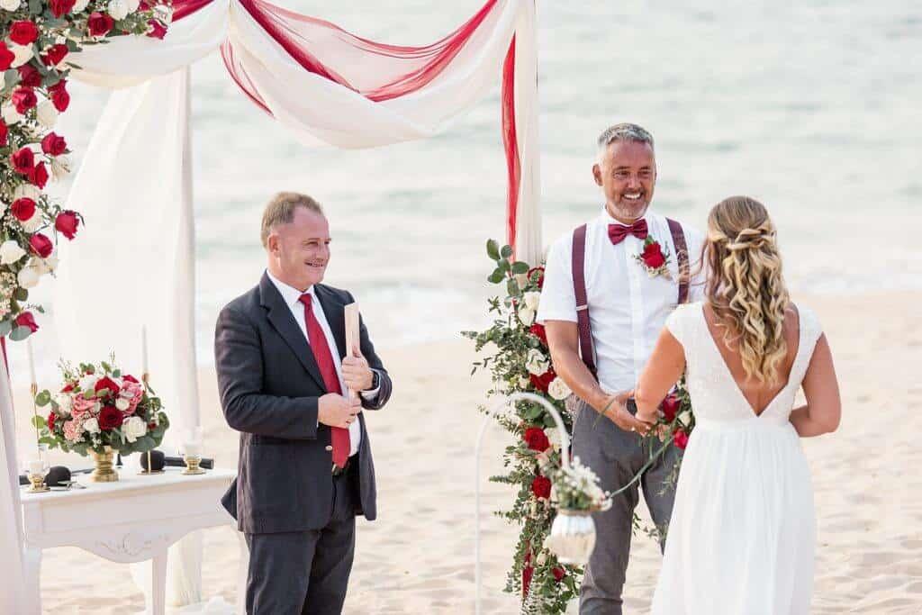 Gina & Hasse Beach Wedding 20th Jan 2020 Aleenta Resort Phang Nga 66