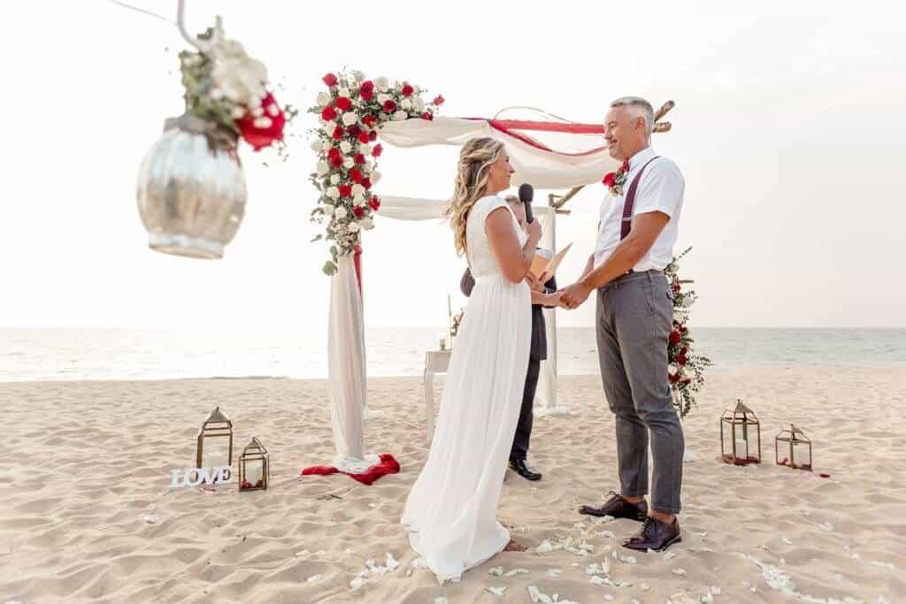 Gina & Hasse Beach Wedding 20th Jan 2020 Aleenta Resort Phang Nga 88